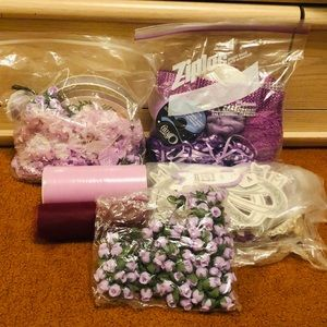 💜Purple Bundle of flowers tool trimmings & decor